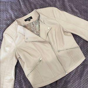 Cropped Moto jacket StitchFix faux leather | sz M